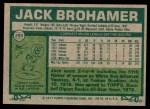 1977 Topps #293  Jack Brohamer  Back Thumbnail