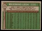 1976 Topps #576  Maximino Leon  Back Thumbnail
