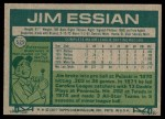 1977 Topps #529  Jim Essian  Back Thumbnail