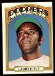 1972 Topps #398  Larry Hisle  Front Thumbnail