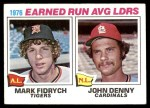 1977 Topps #7   -  Mark Fidrych / John Denny ERA Leaders   Front Thumbnail