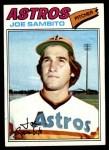1977 Topps #227  Joe Sambito  Front Thumbnail