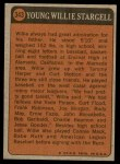 1972 Topps #343   -  Willie Stargell Boyhood Photo Back Thumbnail