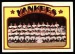 1972 Topps #237   Yankees Team Front Thumbnail