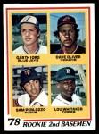 1978 Topps #704   -  Lou Whitaker / Gart lorg / Dave Oliver / Sam Perlozzo Rookie 2nd Basemen   Front Thumbnail