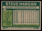 1977 Topps #37  Steve Hargan  Back Thumbnail