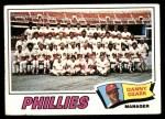 1977 Topps #467   -  Danny Ozark Phillies Team Checklist Front Thumbnail