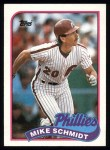 1989 Topps #100  Mike Schmidt  Front Thumbnail