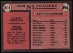 1989 Topps #391   -  Andre Dawson All-Star Back Thumbnail
