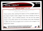 2012 Topps Update #144  Mike Trout  Back Thumbnail