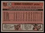1981 Topps #620  Dennis Eckersley  Back Thumbnail