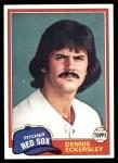 1981 Topps #620  Dennis Eckersley  Front Thumbnail