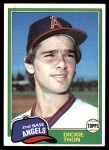 1981 Topps #209  Dickie Thon  Front Thumbnail