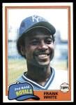 1981 Topps #330  Frank White  Front Thumbnail