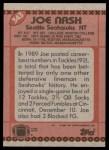 1990 Topps #343  Joe Nash  Back Thumbnail