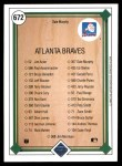1989 Upper Deck #672   -  Dale Murphy Atlanta Braves Team Back Thumbnail