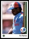 1989 Upper Deck #402  Tim Raines  Front Thumbnail