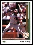 1989 Upper Deck #275  Eddie Murray  Front Thumbnail