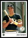 1989 Upper Deck #371  Jose Canseco  Front Thumbnail