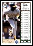 1989 Upper Deck #605  Dave Parker  Back Thumbnail
