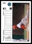 1990 Upper Deck #276  Tony Pena  Back Thumbnail