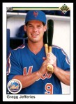 1990 Upper Deck #166  Gregg Jefferies  Front Thumbnail