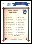 1990 Upper Deck #91   -  Robin Yount Milwaukee Brewers Team Back Thumbnail