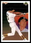 1990 Upper Deck #36   -  Mark McGwire Oakland Athletics Team Front Thumbnail