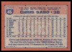 1991 Topps #45  Chris Sabo  Back Thumbnail