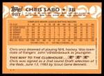 1988 Topps Traded #98 T Chris Sabo  Back Thumbnail