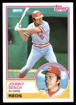 1983 Topps #60  Johnny Bench  Front Thumbnail