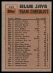 1983 Topps #202   -  Dave Stieb / Damaso Garcia Blue Jays Leaders Back Thumbnail