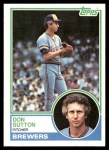 1983 Topps #145  Don Sutton  Front Thumbnail