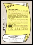 1988 Pacific Legends #50  Ted Williams  Back Thumbnail