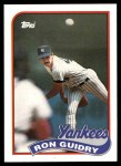 1989 Topps #255  Ron Guidry  Front Thumbnail