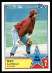 1983 Topps #399   -  Mike Schmidt All-Star Front Thumbnail