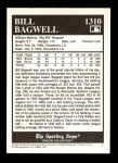 1994 Conlon Burgundy #1310   -  Bill Bagwell First Card Back Thumbnail