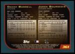 2001 Topps #361  Danny Borrell / Jason Bourgeois  Back Thumbnail