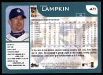2001 Topps #471  Tom Lampkin  Back Thumbnail
