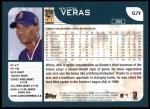 2001 Topps #571  Wilton Veras  Back Thumbnail