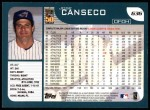 2001 Topps #636  Jose Canseco  Back Thumbnail