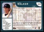 2001 Topps #655  Larry Walker  Back Thumbnail