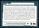 2001 Topps #753   Arizona Diamondbacks Team Back Thumbnail