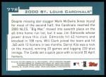 2001 Topps #778   St. Louis Cardinals Team Back Thumbnail