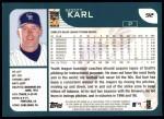 2001 Topps #92  Scott Karl  Back Thumbnail