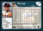 2001 Topps #177  Walt Weiss  Back Thumbnail
