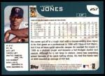 2001 Topps #257  Jacque Jones  Back Thumbnail