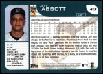 2001 Topps #413  Jeff Abbott  Back Thumbnail