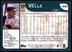 2001 Topps #626  Albert Belle  Back Thumbnail