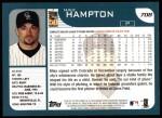 2001 Topps #708  Mike Hampton  Back Thumbnail